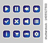 blue square buttons with user...