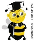 a cute graduated student bee...   Shutterstock .eps vector #1405534193
