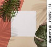 top view of green tropical... | Shutterstock . vector #1405534493