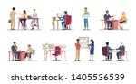 employment service flat vector... | Shutterstock .eps vector #1405536539