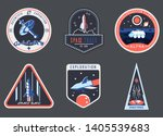 set of isolated astronaut... | Shutterstock .eps vector #1405539683