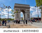 paris  france   may 16  2019  ... | Shutterstock . vector #1405544843