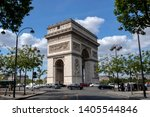 paris  france   may 16  2019  ... | Shutterstock . vector #1405544846