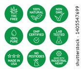 cbd oil icons set including thc ... | Shutterstock .eps vector #1405547699