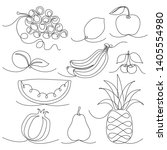 vector monochrome sketchy... | Shutterstock .eps vector #1405554980
