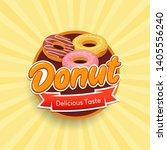 donut typographical logo design ... | Shutterstock .eps vector #1405556240