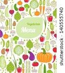 restaurant menu design. healthy ...   Shutterstock .eps vector #140555740