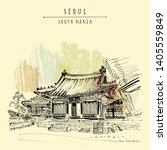 seoul  south korea  asia....   Shutterstock . vector #1405559849