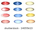buttons for a network on a... | Shutterstock . vector #14055613