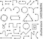 thin arrows. black simple... | Shutterstock .eps vector #1405568096