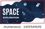 space background with cosmos... | Shutterstock .eps vector #1405569650