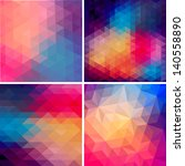 retro pattern of geometric... | Shutterstock .eps vector #140558890