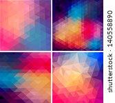 Retro Pattern Of Geometric...