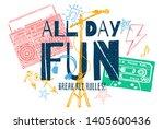 music slogan graphic for t... | Shutterstock .eps vector #1405600436