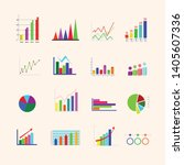 graph sets in various formats | Shutterstock .eps vector #1405607336