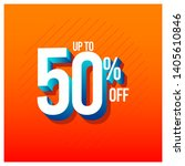discount label up to 50  off... | Shutterstock .eps vector #1405610846