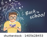 back to school  child with...   Shutterstock .eps vector #1405628453