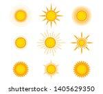 sun icon set  vector design | Shutterstock .eps vector #1405629350