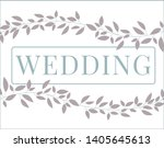 pretty wedding cards and... | Shutterstock .eps vector #1405645613