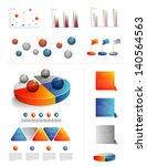 presentation template for... | Shutterstock .eps vector #140564563