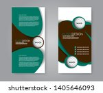 flyer template. vectical banner ... | Shutterstock .eps vector #1405646093