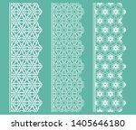 vector set of line borders with ... | Shutterstock .eps vector #1405646180