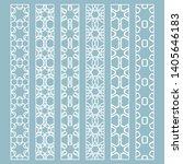 vector set of line borders with ... | Shutterstock .eps vector #1405646183