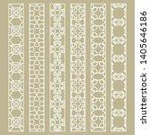 vector set of line borders with ... | Shutterstock .eps vector #1405646186