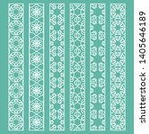 vector set of line borders with ... | Shutterstock .eps vector #1405646189