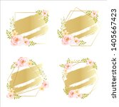 floral frame invitation... | Shutterstock .eps vector #1405667423