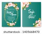 floral invitation background... | Shutterstock .eps vector #1405668470