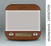 retro radio app icon  vector... | Shutterstock .eps vector #140567434