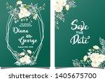 floral invitation background... | Shutterstock .eps vector #1405675700