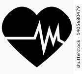 electrocardiogram icon isolated ... | Shutterstock .eps vector #1405680479