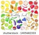 watercolor healthy food...   Shutterstock . vector #1405682333