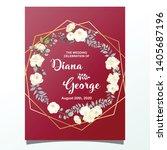 floral invitation background... | Shutterstock .eps vector #1405687196