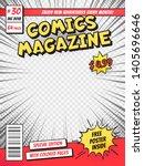 comic book cover. comics books... | Shutterstock . vector #1405696646