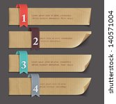 paper numbered banners. vector... | Shutterstock .eps vector #140571004