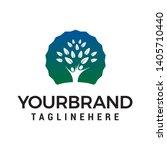 people tree logo design concept ... | Shutterstock .eps vector #1405710440