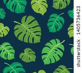 trendy summer tropical leaves... | Shutterstock .eps vector #1405736423
