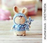Handmade Knitted Toys. Easter...