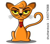 cartoon vector cat. | Shutterstock .eps vector #140574088