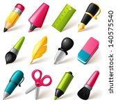 drawing and writing tools icon... | Shutterstock .eps vector #140575540