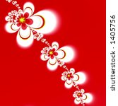 white red fractal flowers on red | Shutterstock . vector #1405756