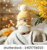 handmade knitted toy. amigurumi ...   Shutterstock . vector #1405756010