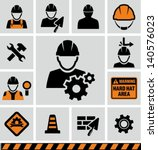 industrial worker icon | Shutterstock .eps vector #140576023
