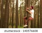 hugging trees to support nature | Shutterstock . vector #140576608