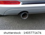 car exhaust pipe smoke fumes | Shutterstock . vector #1405771676