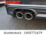 car exhaust pipe smoke fumes | Shutterstock . vector #1405771679