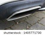 car exhaust pipe smoke fumes | Shutterstock . vector #1405771730